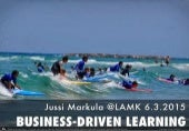 Business-driven learning - experimentation culture