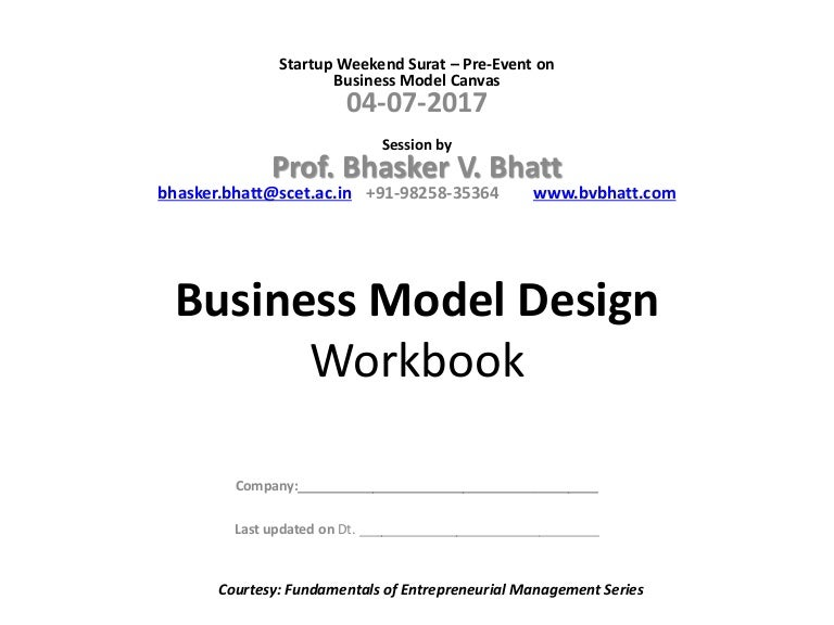 Business ModelProcessWorkbook Template