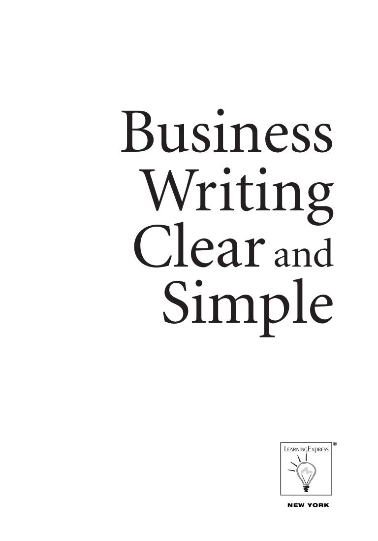 writing clear