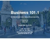 Business 101.1 NYU ITP
