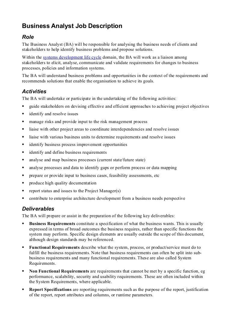businessanalystjobdescription124834388385phpapp02thumbnail4jpgcb 1248326316 – System Analyst Job Descriptions