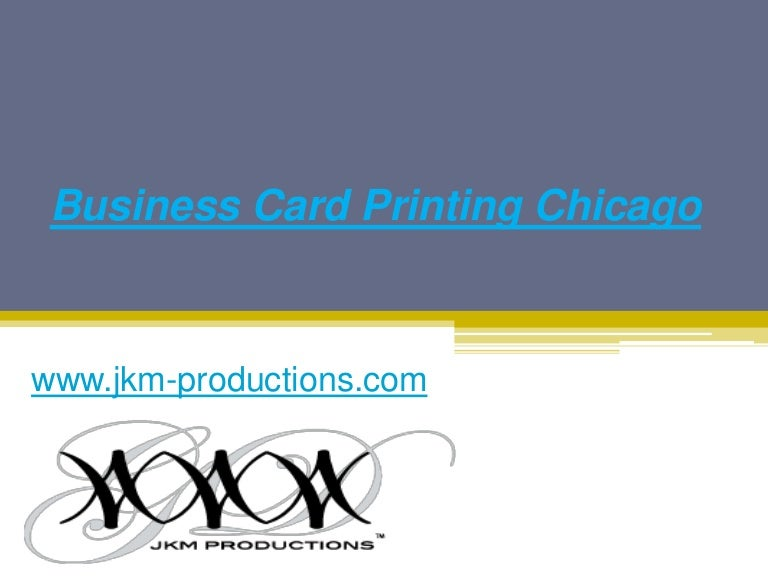 Business card printing in chicago jkm productions reheart Choice Image