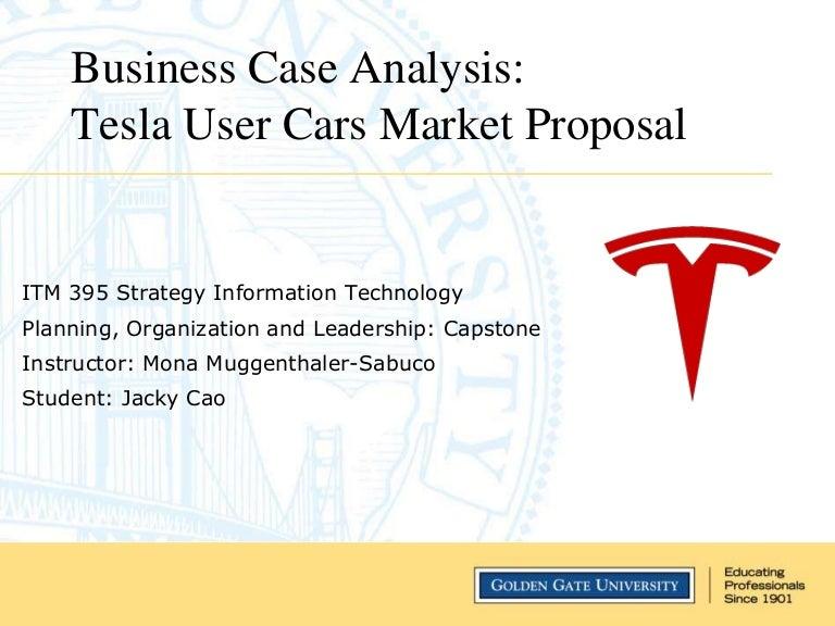 Tesla business case analysis – Business Case Analysis
