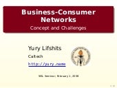 Business-Consumer Networks: Concept and Challenges