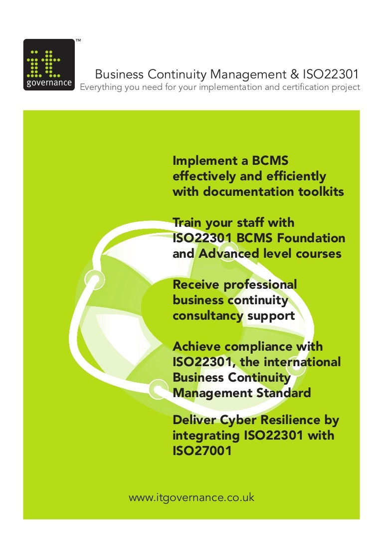 Business continuity management iso 22301 xflitez Choice Image