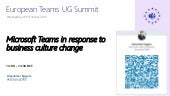 Microsoft Teams in repsonse to business culture change