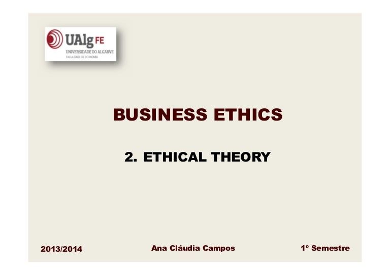 Business Ethics Ethical Theory