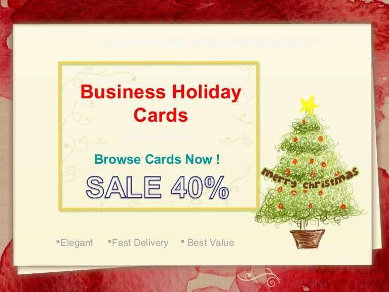 Business holiday cards with company logo 2013 x reheart Gallery
