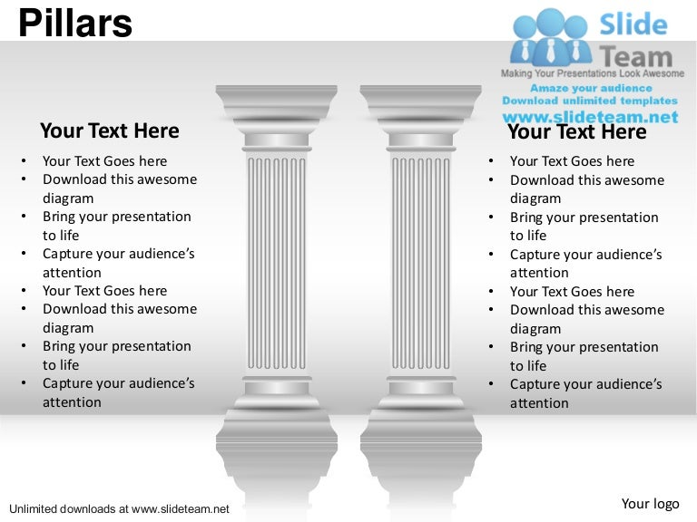 Business important pillars of strength power point slides and ppt dia toneelgroepblik Images