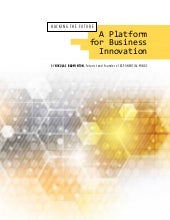 A Platform for Business Innovation - A Waterloo Innovation Summit Thought Paper