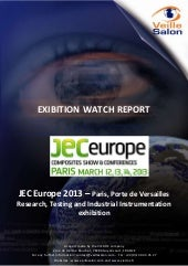 JEC Europe 2013 Competitive Intelligence Report