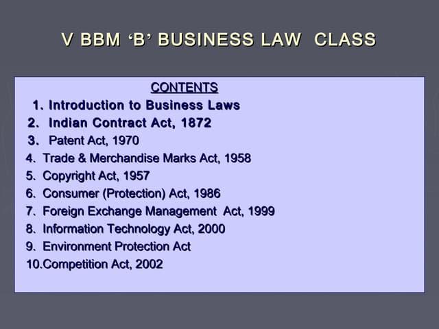 Business law slides