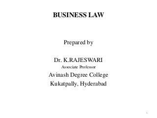 Business law PPT Dr.k.Rajeswari