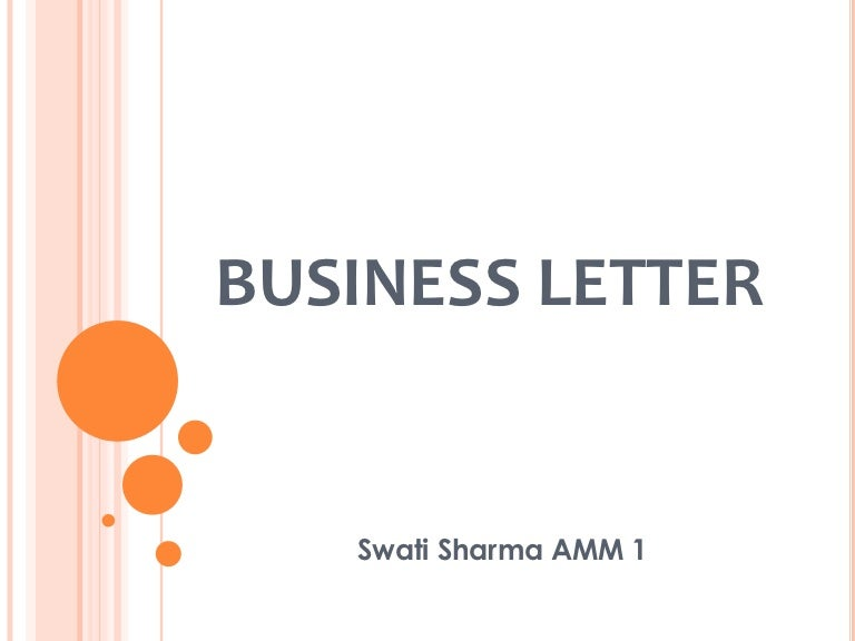 business to business letter