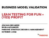 Business Model Validation Parsons New School
