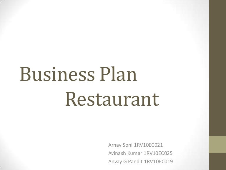 Business PlanRestaurant