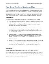 Sample Business Plan Food Beverage - Fast food business plan template