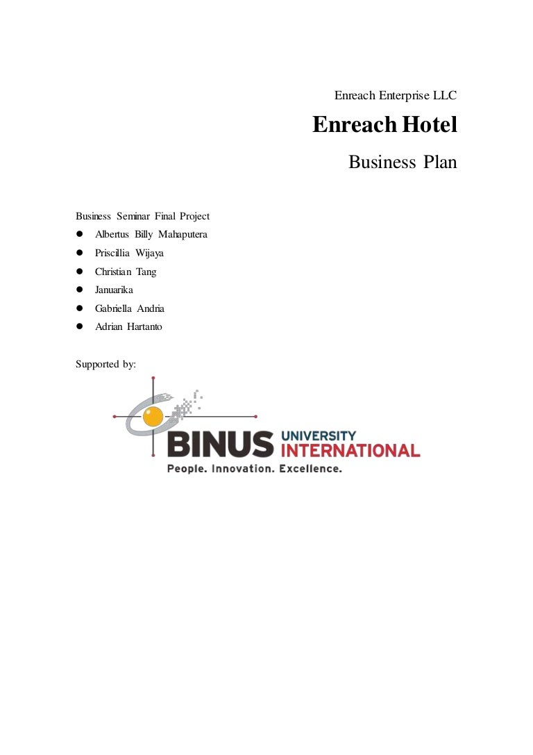 Business plan enreach hotel