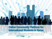 Online Community Platform for International Students
