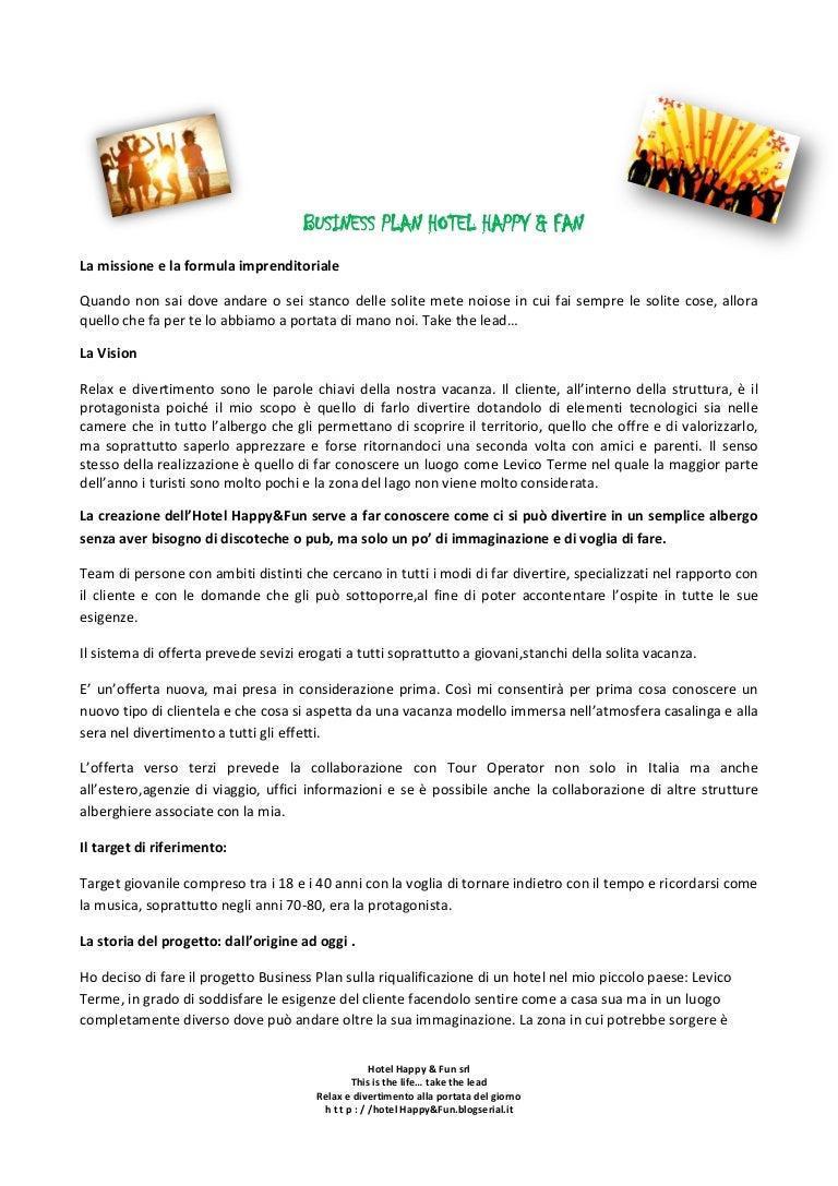 Business Plan Hotel Happy&fun Sara Ognibeni IV ITT