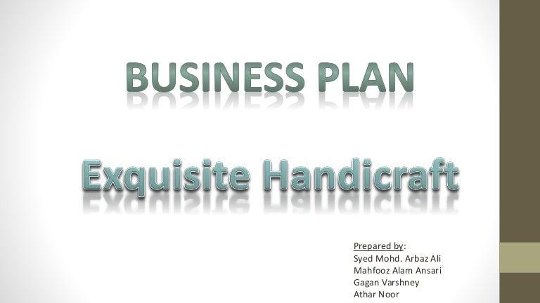 Business Plan On Exquisite Handicraft