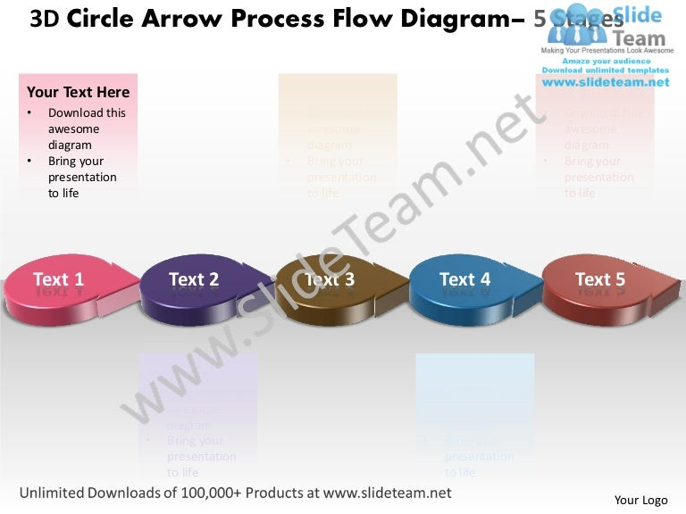 Business Power Point Templates 3d Circle Arrow Process Flow Diagram S