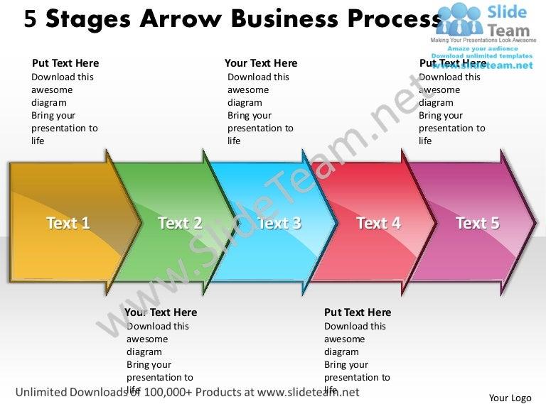 Business Power Point Templates 5 State Diagram Ppt Arrow Process Sale