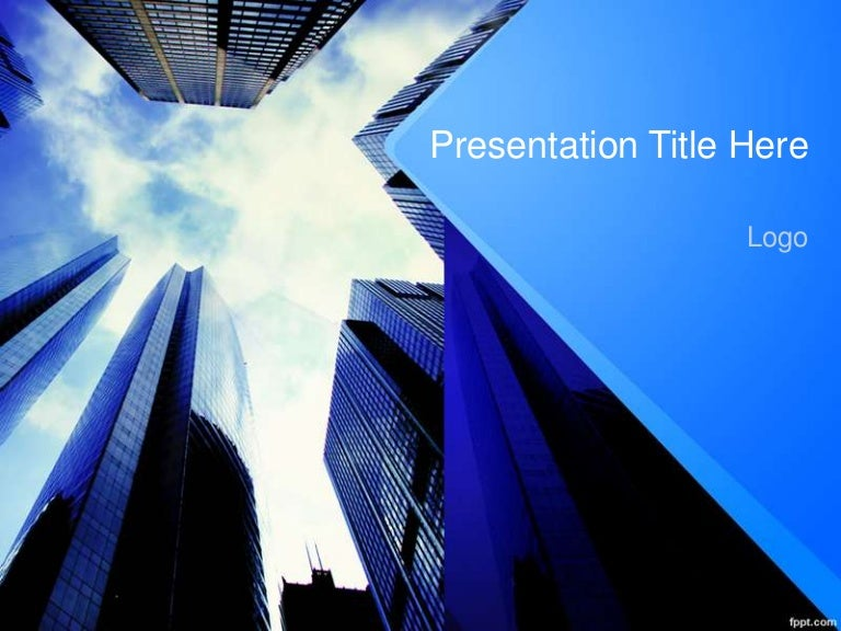 Business Presentation Free Corporate Finance PowerPoint Template