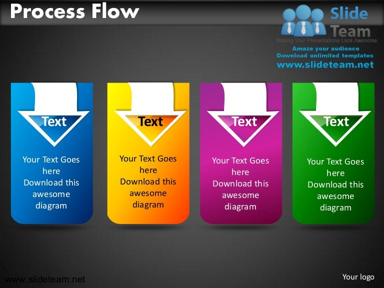 business process flow powerpoint ppt slides., Modern powerpoint