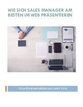 Business Profil Sales Manager im Web