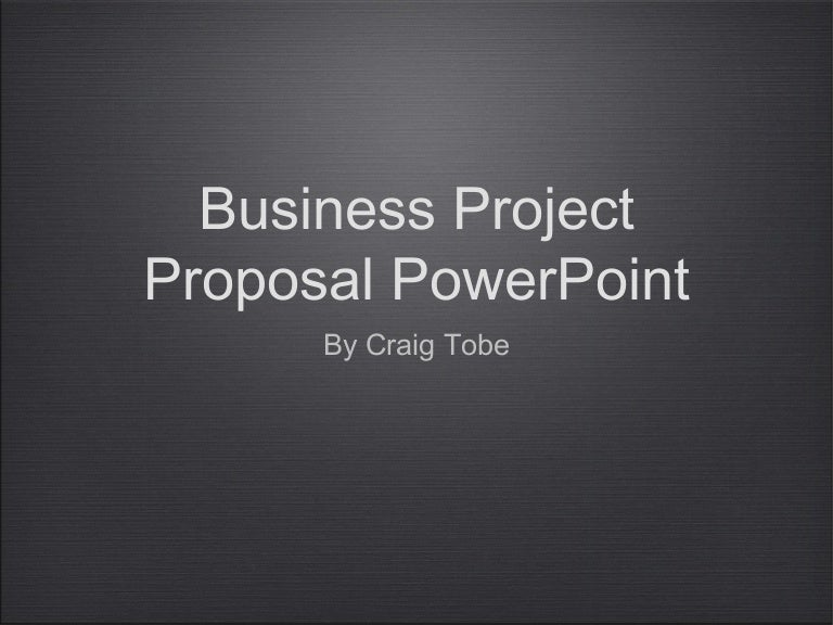 business project proposal power point