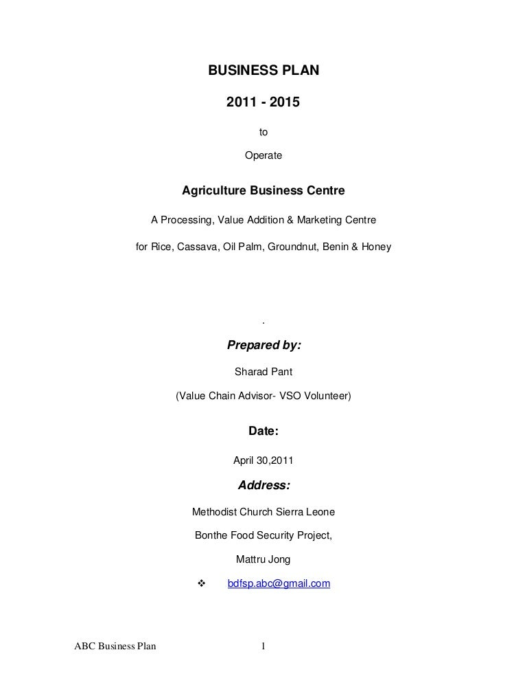 Business Proposal Of Abc Bp