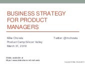 Business Strategy for Product Managers (2018)