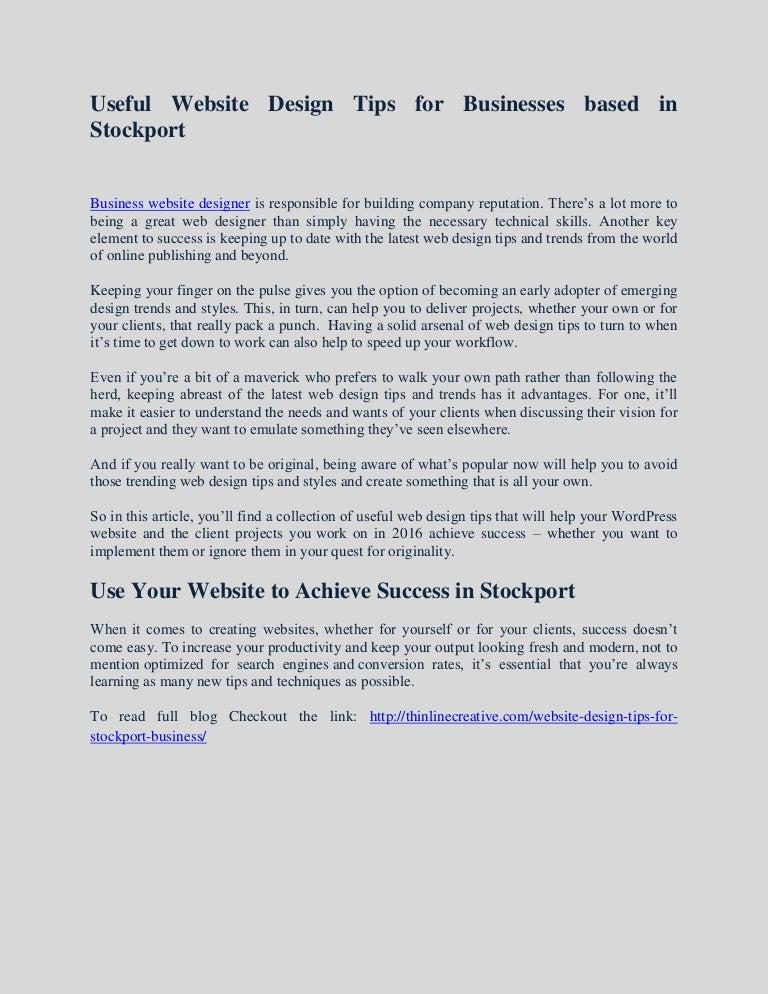 Business Website Designer Tips For Owners