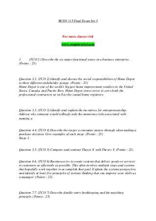 Busn 115 final exam set 3