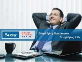 Busy - Business Accounting Software - Corporate Presentation