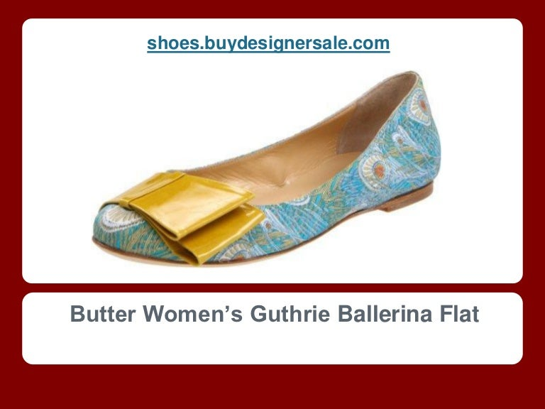 Butter Womens Ballerina Flat with Bow