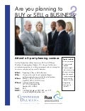 Buying and Selling a Business Seminar