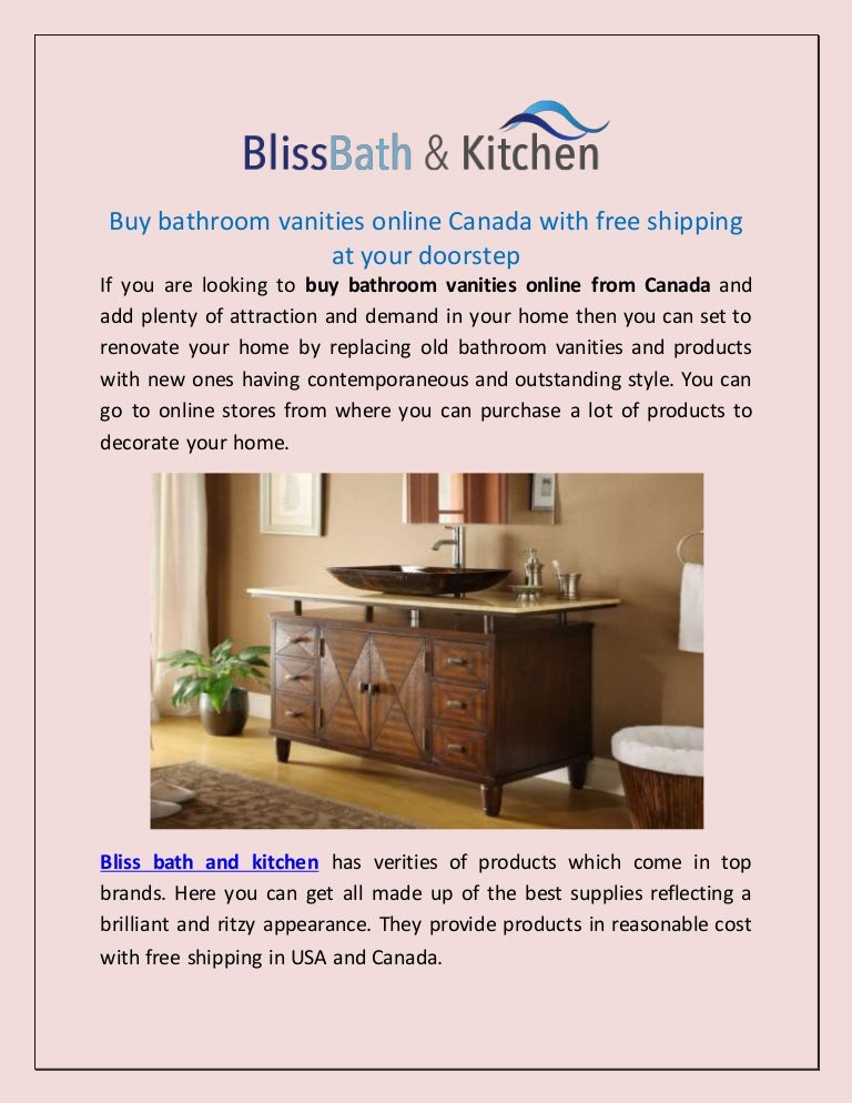Buy bathroom vanities online canada with free shipping at ...