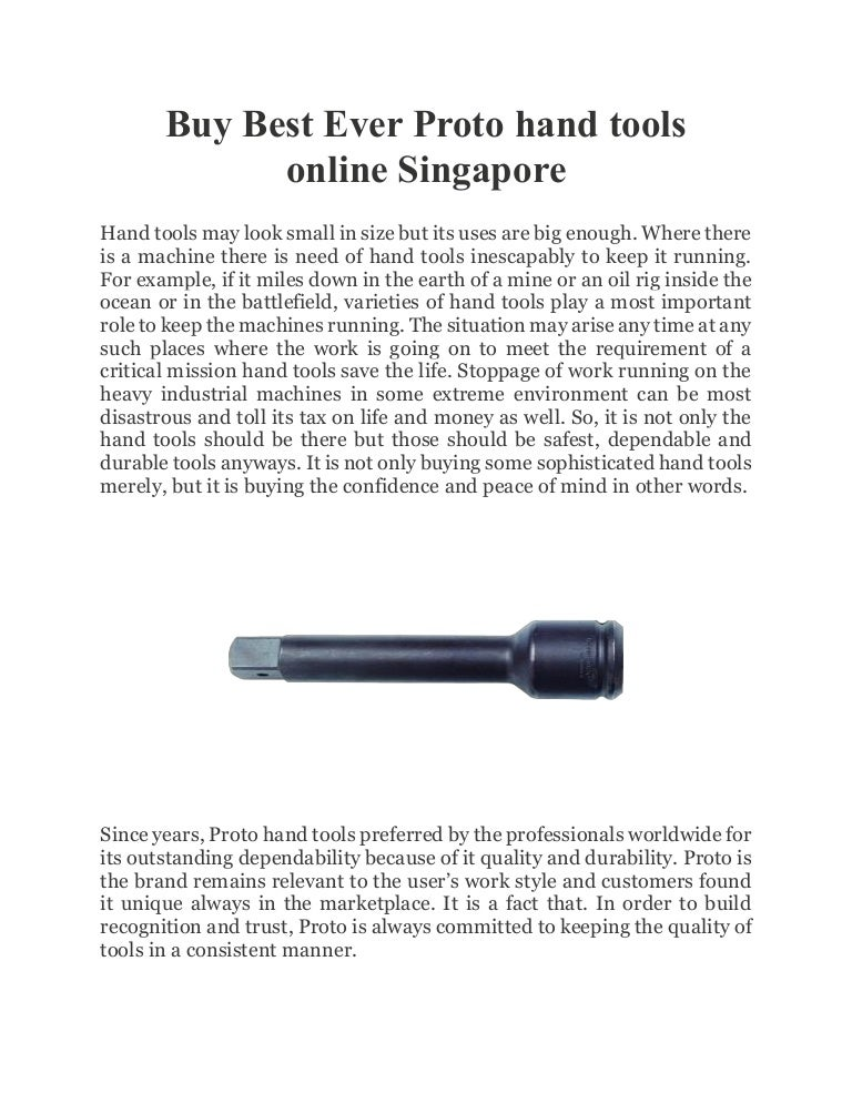 Buy Best Ever Proto Hand Tools Online Singapore - Cheefatt