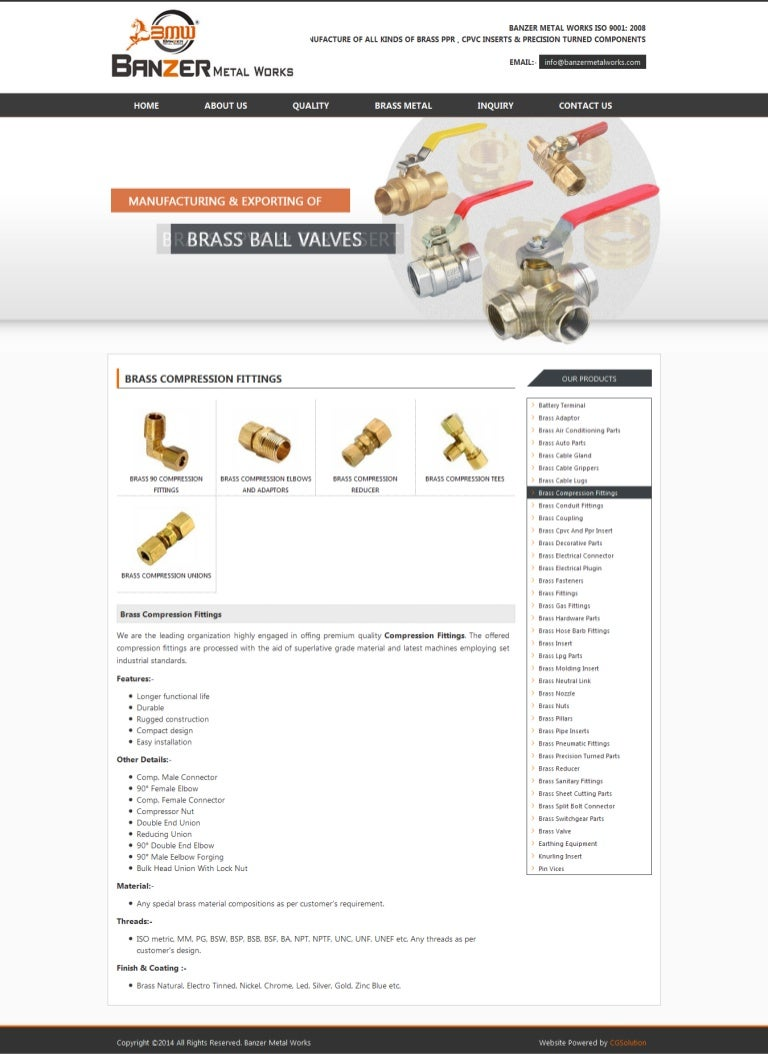 Buy brass & copper compression fittings i alloys