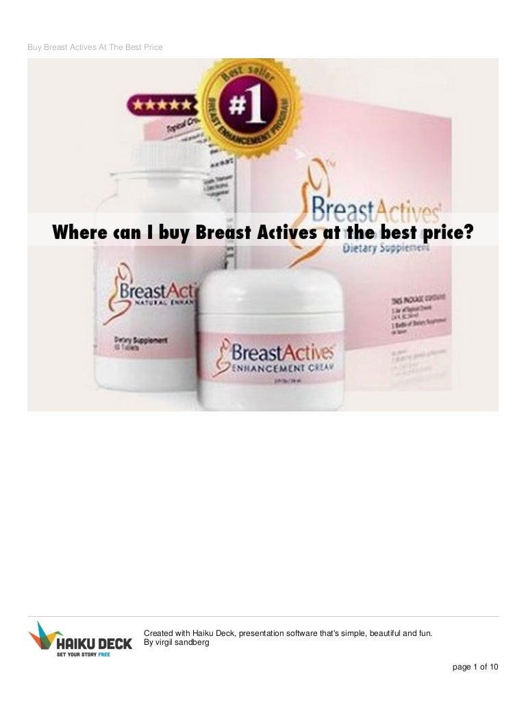 Buy Breast Actives Best Price Special Offers