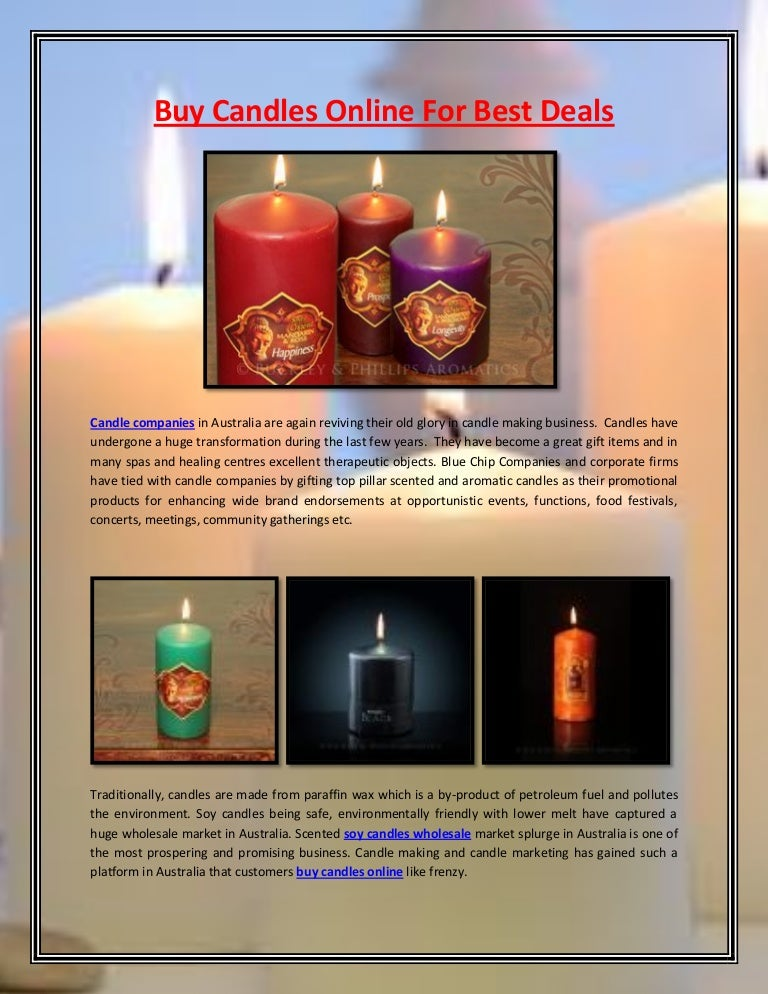Buy Candles Online For Best Deals