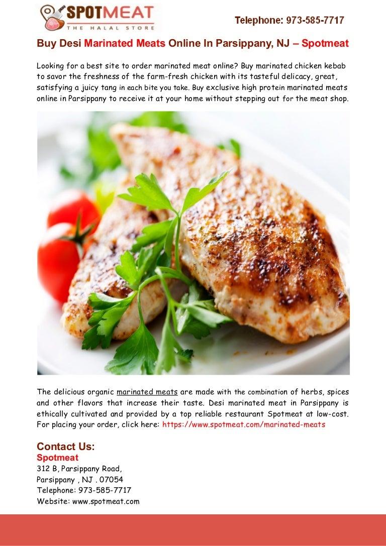 Buy Marinated Meats Online in Parsippany - Spotmeat
