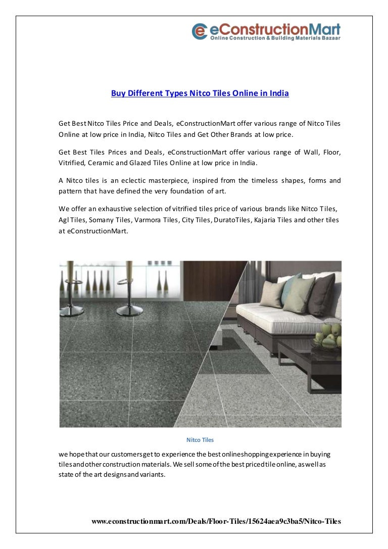 Buy Different Types Nitco Tiles Online In India