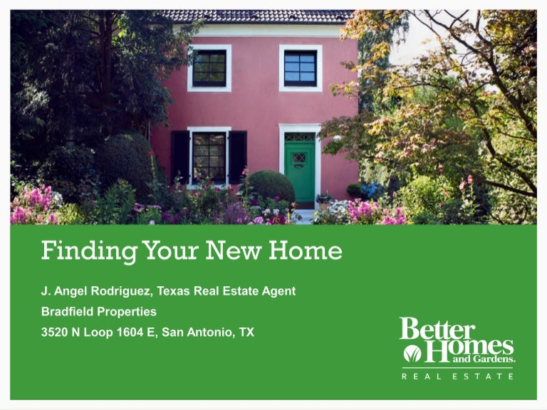 Buyer presentation better homes and gardens real estate bradfield p for Better homes and gardens real estate rentals