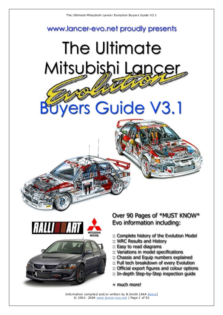 The Ultimate Mitsubishi Lancer Evolution Buyer guide