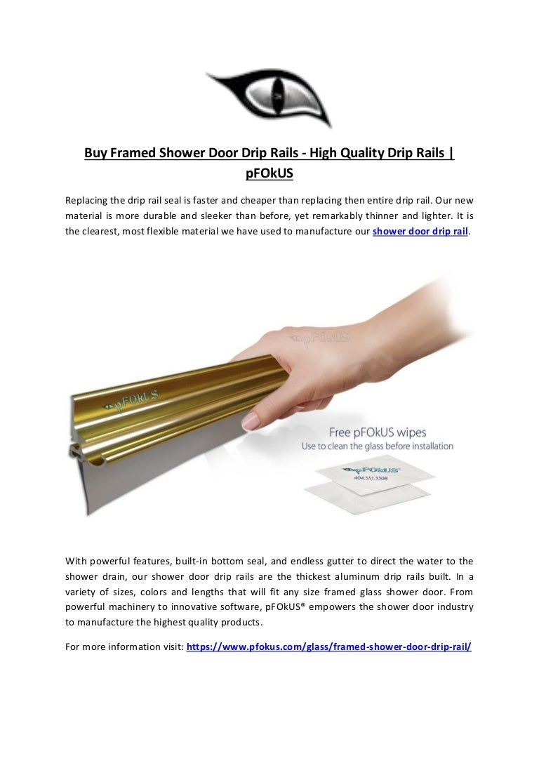 Buy Framed Shower Door Drip Rails