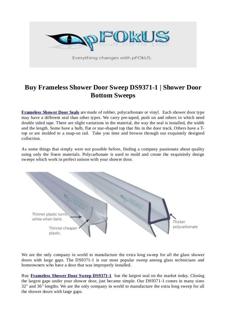 Buy Frameless Shower Door Sweep Ds9371 1 Shower Door Bottom Sweeps