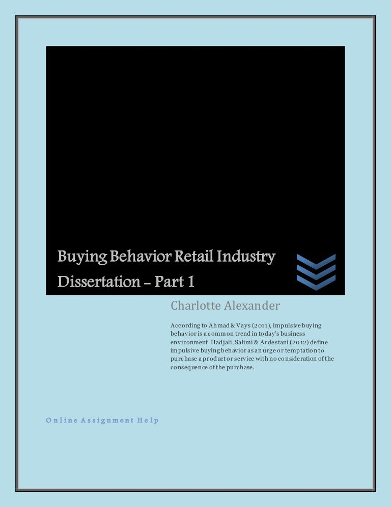 Dissertation on online retailing